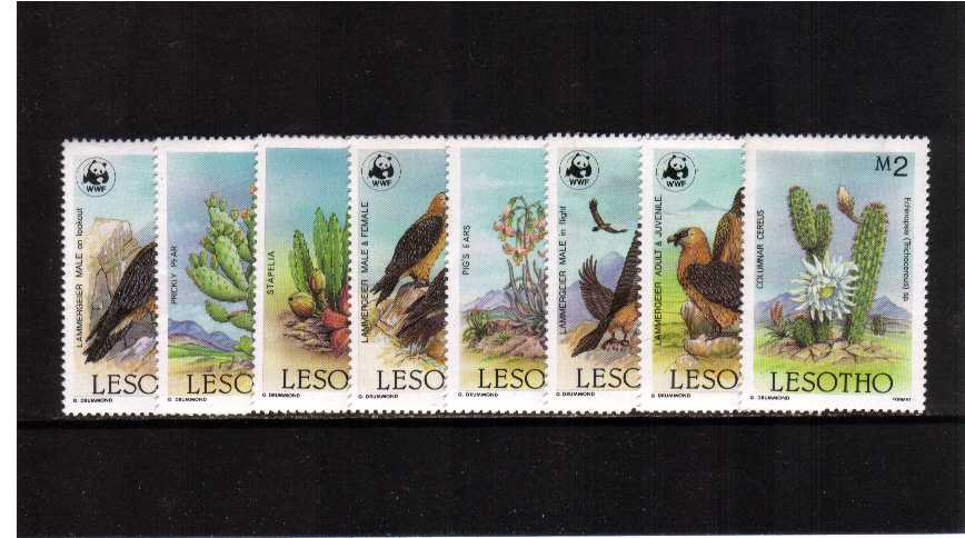 WWF - Flora and Fauna - Cactus and Birds -  of Lesotho set of eight superb unmounted mint.