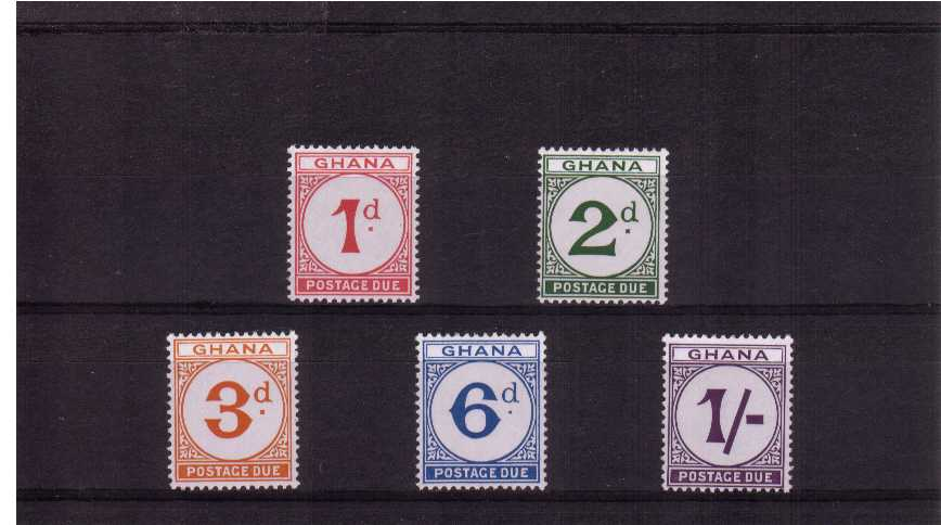 Postage Due set of five superb unmounted mint.<br><b>XLX</b>