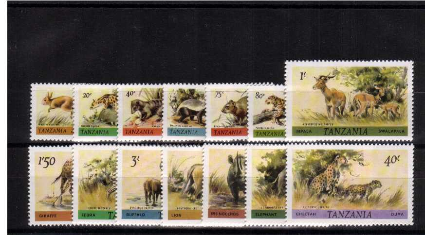 African Wildlife set of fourteen superb unmounted mint. An amazing price for a COMPLETE definitive set!!
