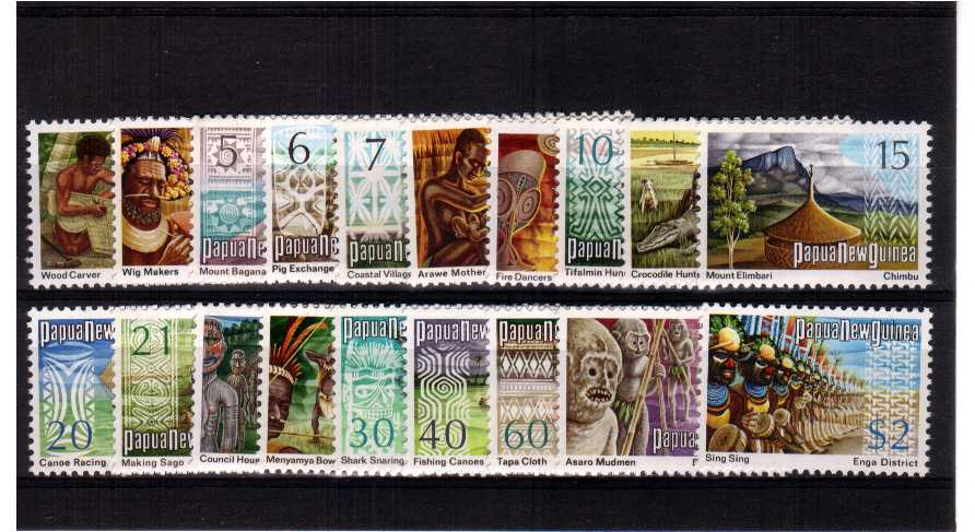 Superb unmounted mint set of nineteen.