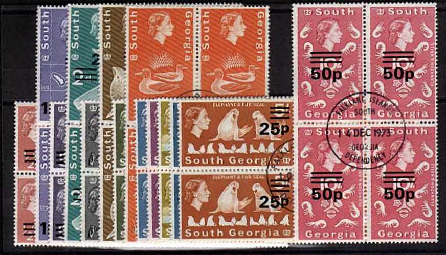 Superb fine used set of fourteen in blocks of four. Pretty!