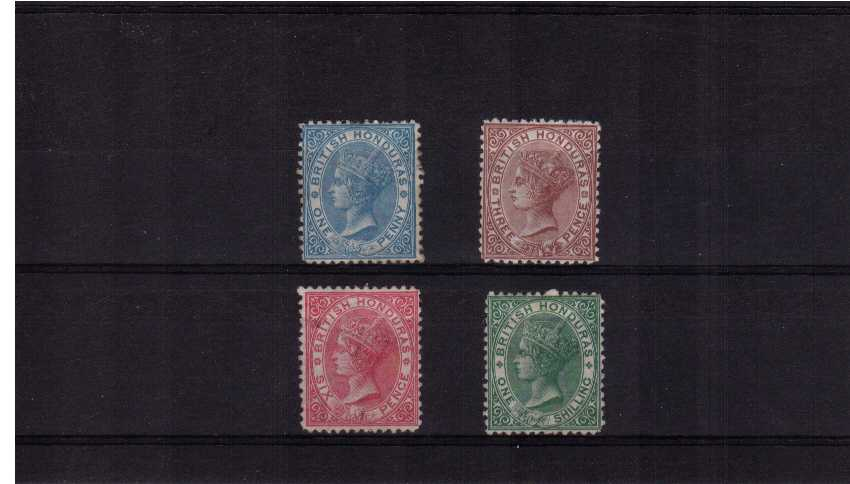 Basic set of four - Watermark Crown CC - Perforation 12½ -lightly mounted mint. SG Cat £945