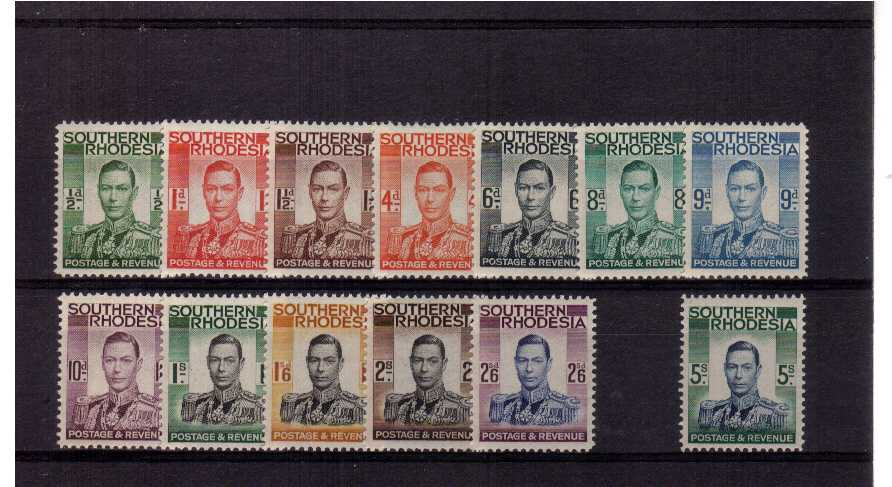 A superb unmounted mint set of thirteen.<br/><b>QJQ</b>