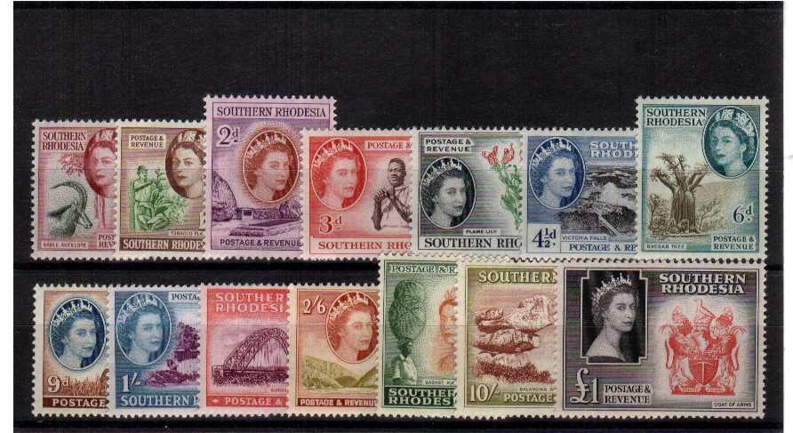 A superb unmounted mint set of fourteen.<br/><b>UEU</b>
