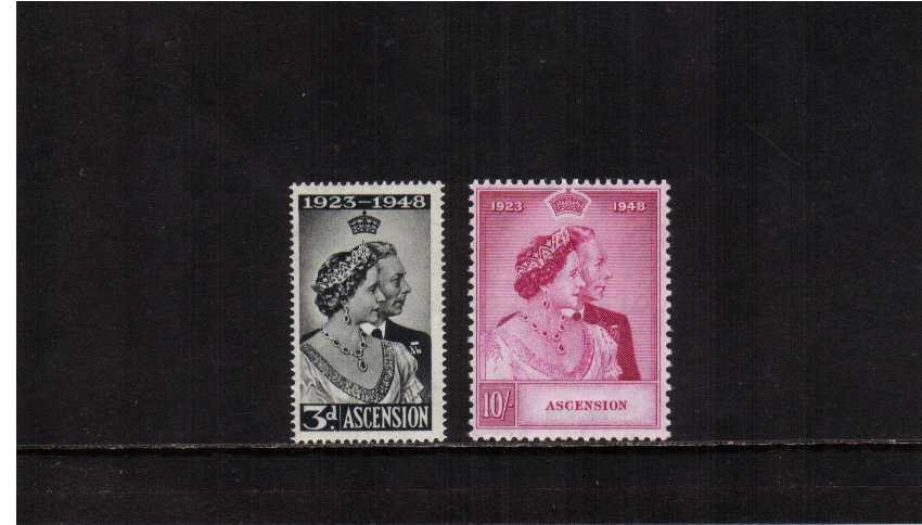 The 1948 Royal Silver Wedding set of two superb unmounted mint.<br/><b>SEARCH CODE: 1948RSW</b><br/><b>QLQ</b>