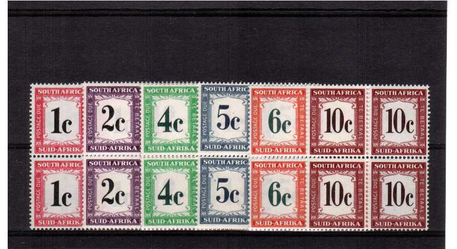 superb unmounted mint set of 6 in blocks of 4