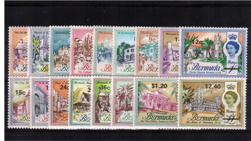 Superb unmounted mint set of seventeen.<br/><b>QMQ,</b>