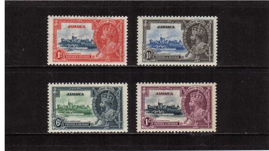 Silver Jubilee set of four superb lightly mounted mint.<br/><b>SEARCH CODE: 1935JUBILEE</b>
