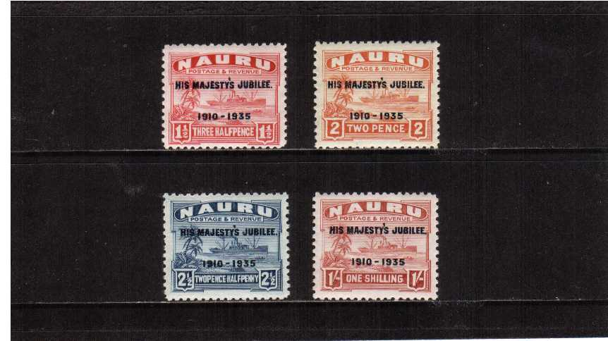 Silver Jubilee set of four superb unmounted mint.<br/><b>SEARCH CODE: 1935JUBILEE</b><br><b>ZHZ</b>