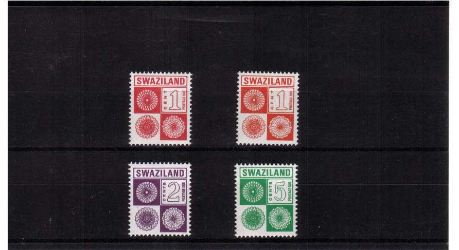 superb unmounted mint set of 4