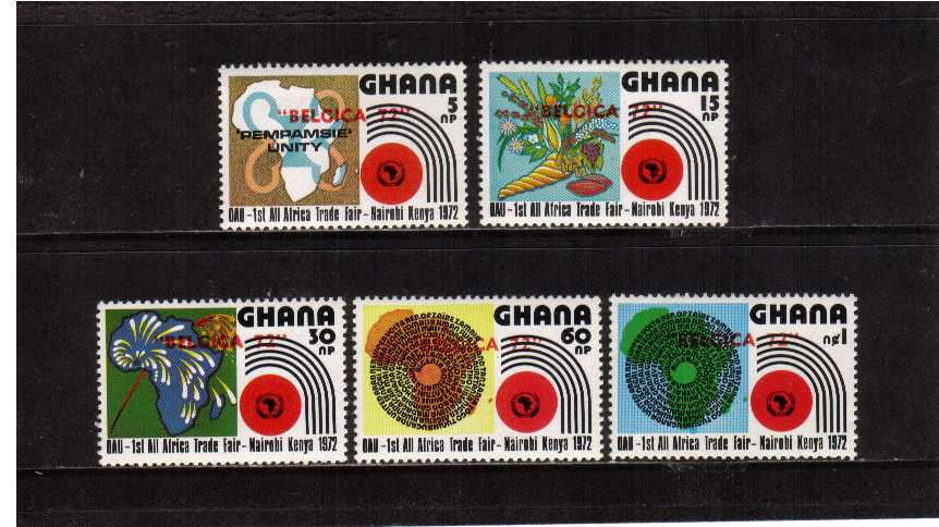 The All-Africa Trade Fair set of four superb unmounted mint overprinted in Red