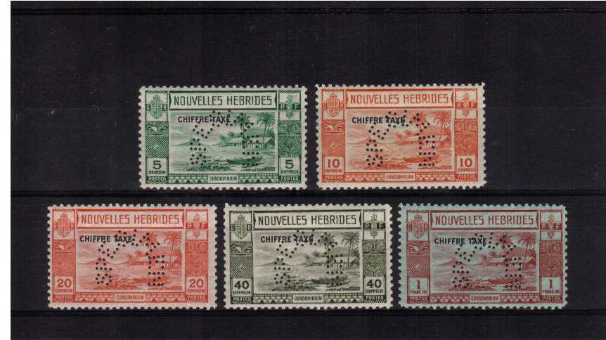 Postage Due set of five perforated SPECIMEN. SG Cat �0