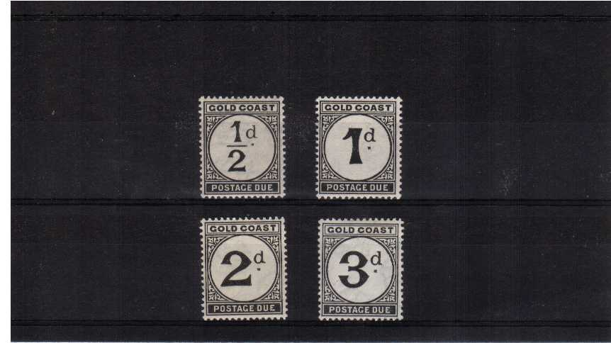 Postage Dues set of four on yellowish Toned Paper very lightly mounted mint> SG Cat �.00