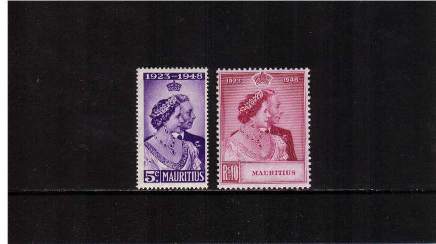 The 1948 Royal Silver Wedding set of two superb unmounted mint.<br/><b>SEARCH CODE: 1948RSW</b><br><b>XHX</b>