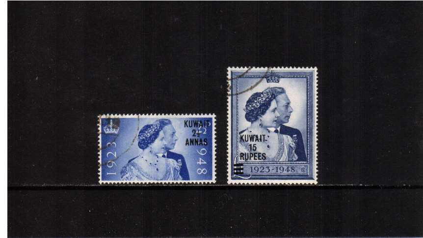 The 1948 Royal Silver Wedding set of two superb fine used<br/><b>SEARCH CODE: 1948RSW</b>
