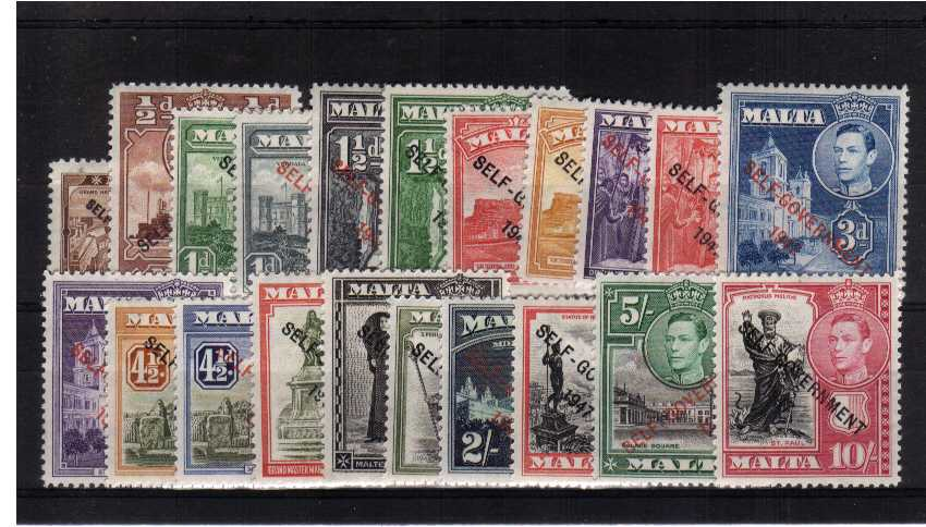 The ''SELF-GOVERNMENT 1947'' overprint set of twenty-one superb unmounted mint.<br/><b>QQX</b>