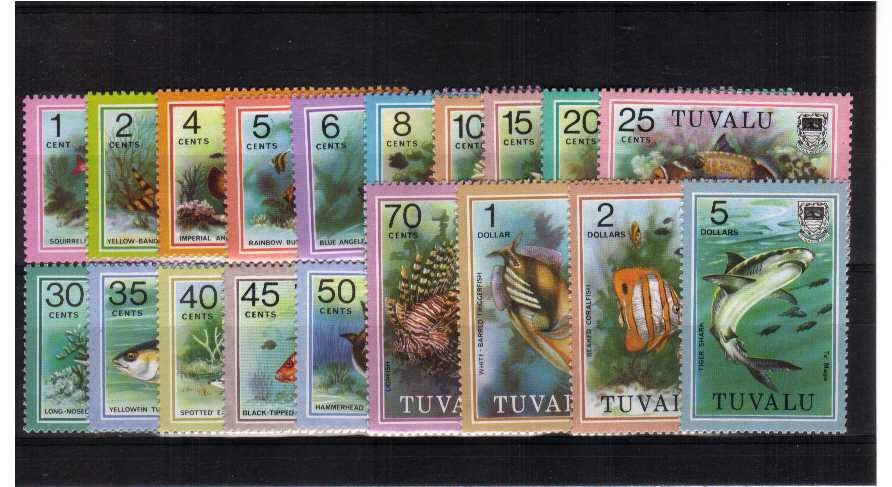 Fish - superb unmounted mint set of nineteen.<br/><b>ZQV</b>