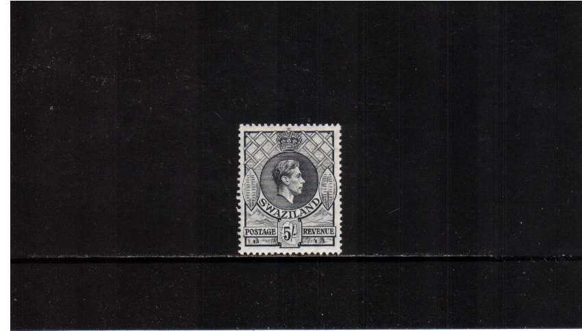5/- Grey - Perforation 13絰13 - superb unmounted mint.  c4qr