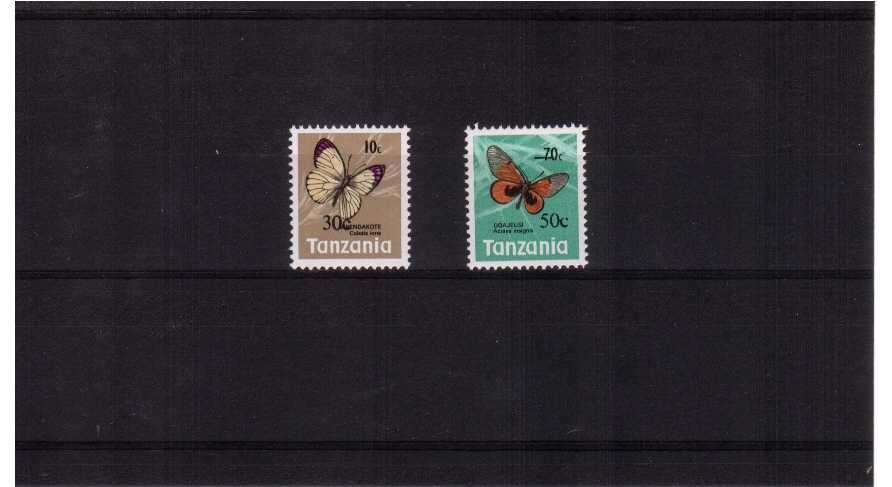 Butterflies - Surcharged<br/>A superb unmounted mint set of two.<br><b>ZJZ</b>