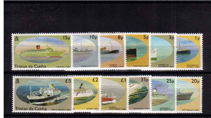 Ships - Superb unmounted mint set of twelve.<br><b>ZJZ</b>