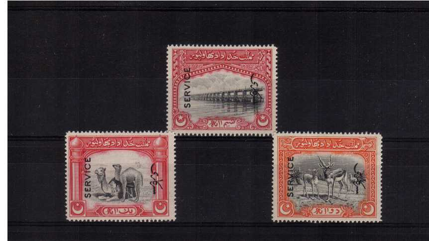 OFFICIALS set of three superb unmounted mint.<br/><b>XZX</b>