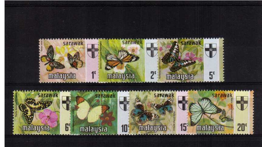 Butterflies - Superb unmounted mint set of seven.