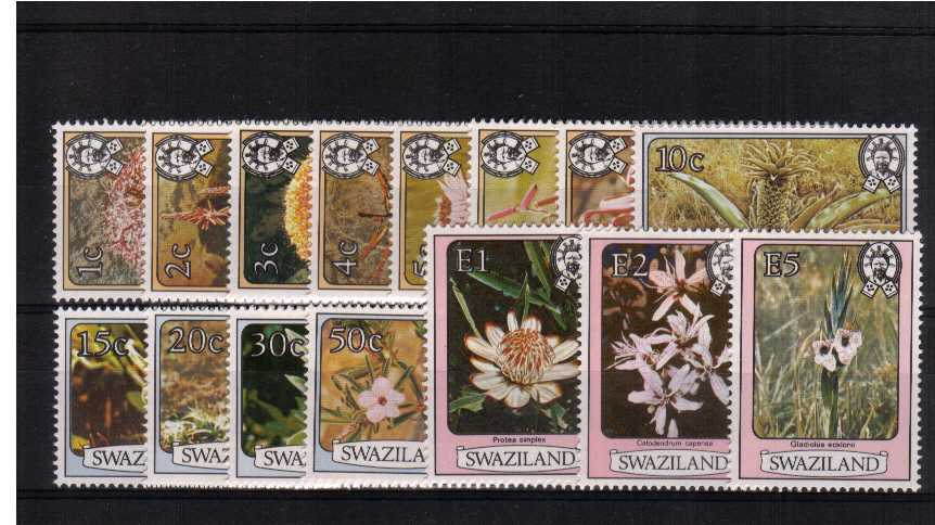 ''Flowers'' set of fifteen superb unmounted mint.<br><b>ZJZ</b>
