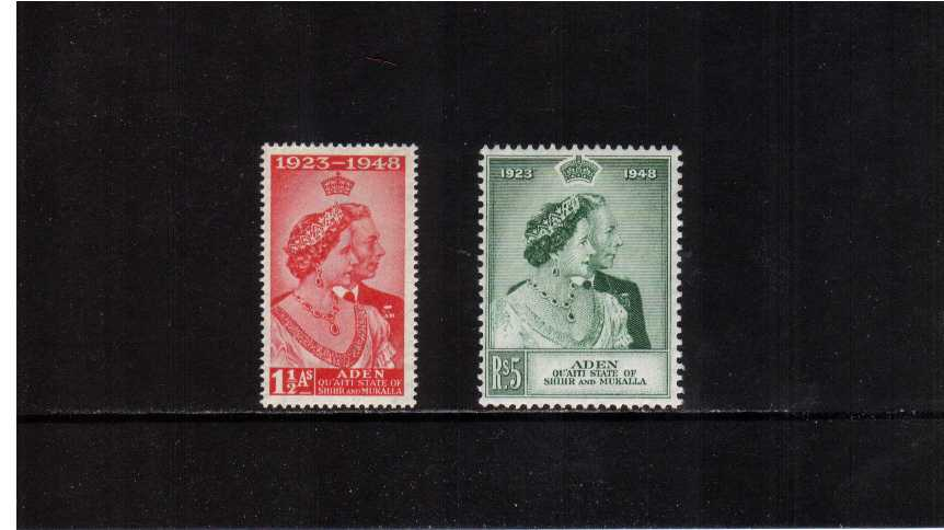 The 1948 Royal Silver Wedding set of two superb lightly mounted mint.<br/><b>SEARCH CODE: 1948RSW</b>