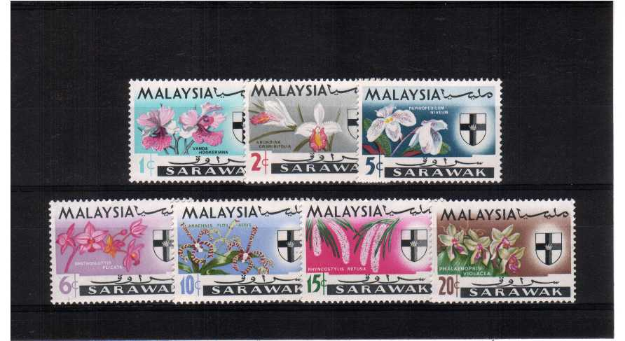 Flowers - superb unmounted mint set of seven.<br/><b>ZKP</b>