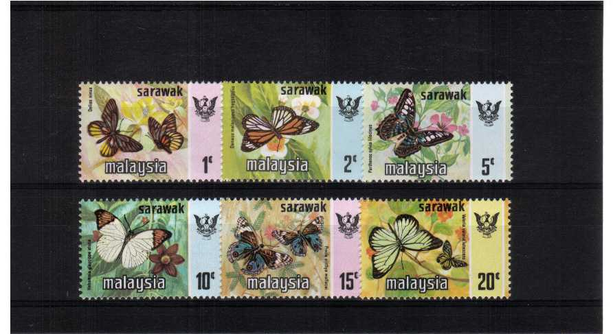 Butterflies - superb unmounted mint set of six.<br/><b>QTQ</b>