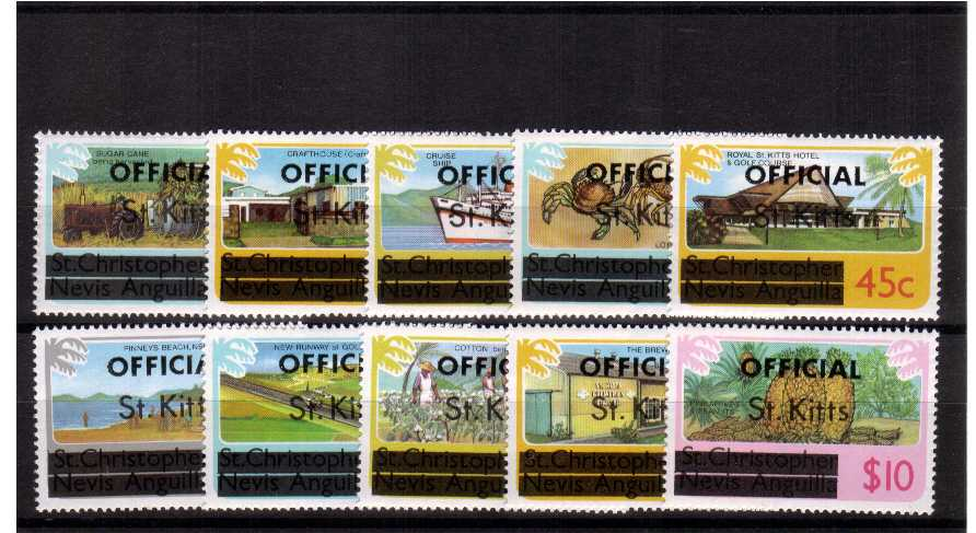 watermarked - superb unmounted mint set of ten