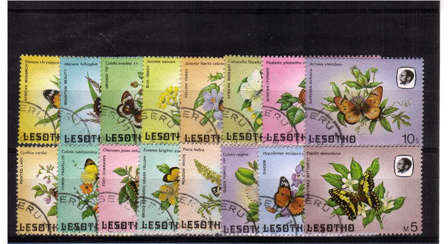 Butterflies - Superb fine used set of sixteen.