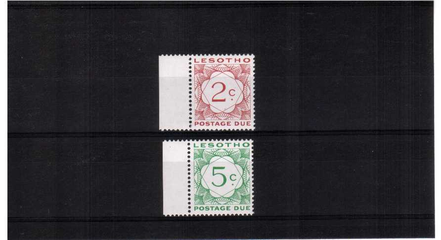 superb unmounted mint marginal set of 2