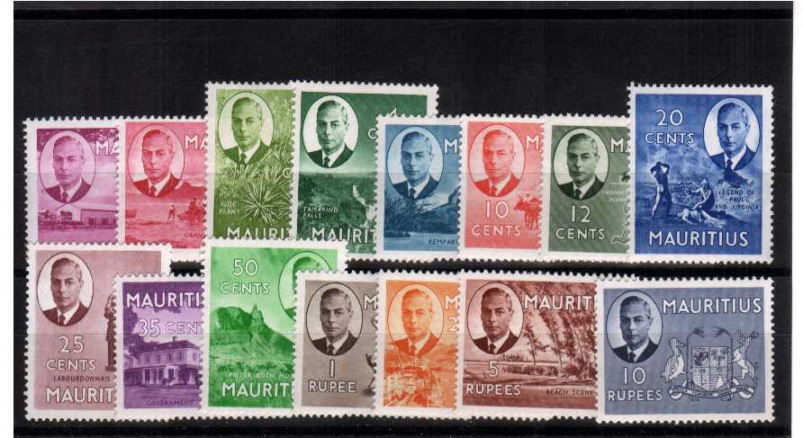 A superb unmounted mint set of fifteen.<br><b>QMQ.</b>