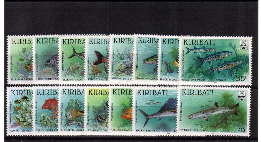 Fish - Superb unmounted mint set of fifteen.