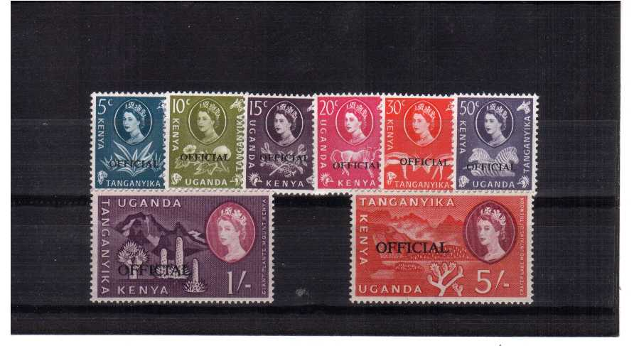 Officials  - A superb unmounted mint set of eight.<br/><b>QDX</b>