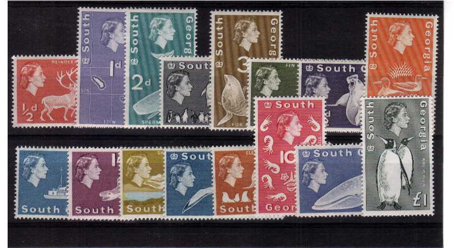 A superb unmounted mint set of sixteen that includes the additional �value.<br/><b>QMQ.</b>