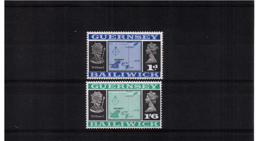 Corrected latitude - superb unmounted mint set of two