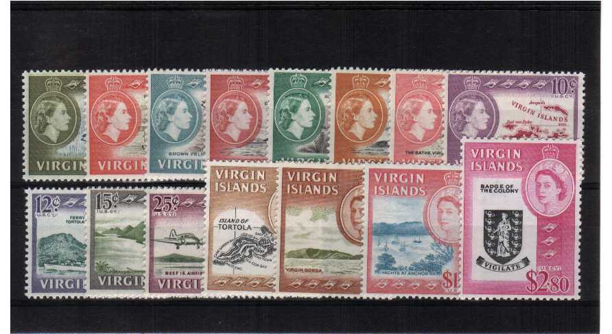 Superb unmounted mint set of fifteen.<br/><b>QQH</b>
