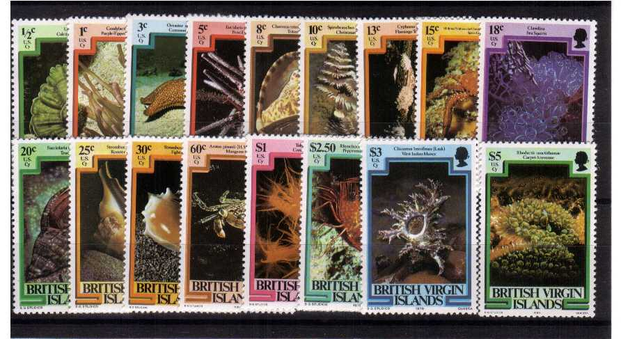 Superb unmounted mint set of seventeen.