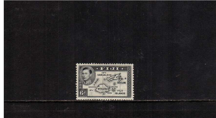 6d Black - Die 1 - a good mounted mint single with excellent centering. SG Cat �