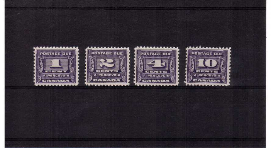 A fine mounted mint set of four