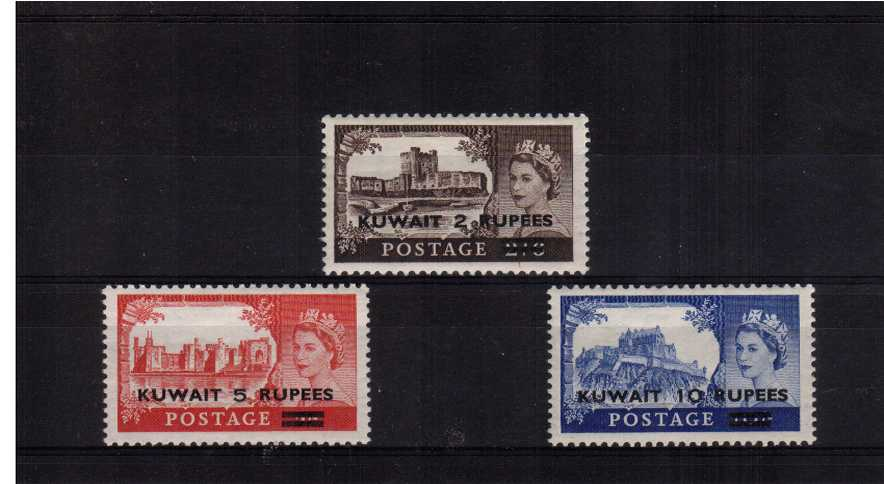 The ''Castles'' set of three superb unmounted mint.<br/><b>XHX</b>
