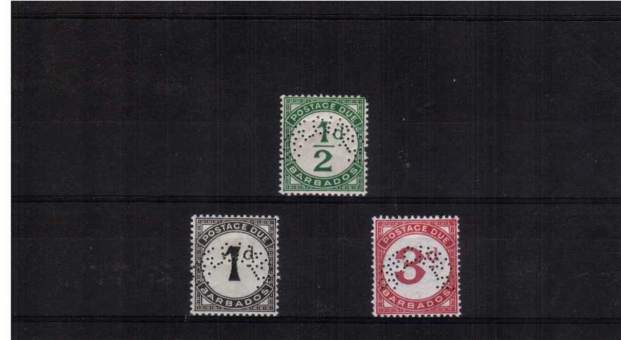 Postage Due set lightly mounted mint perfined SPECIMEN. Scarce set.<br/><br/>