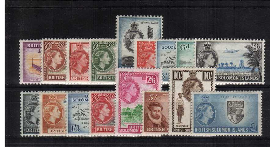 A superb unmounted mint set of seventeen.<br/><b>XGX</b>