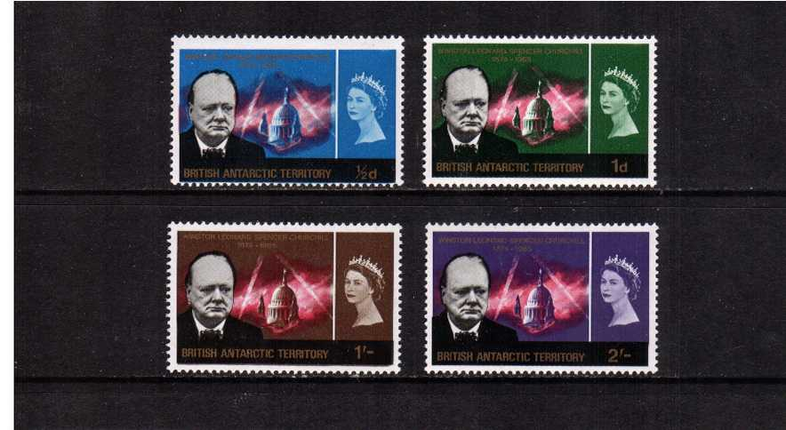 Churchill Commemoration set of four superb unmounted mint.<br/><br/>