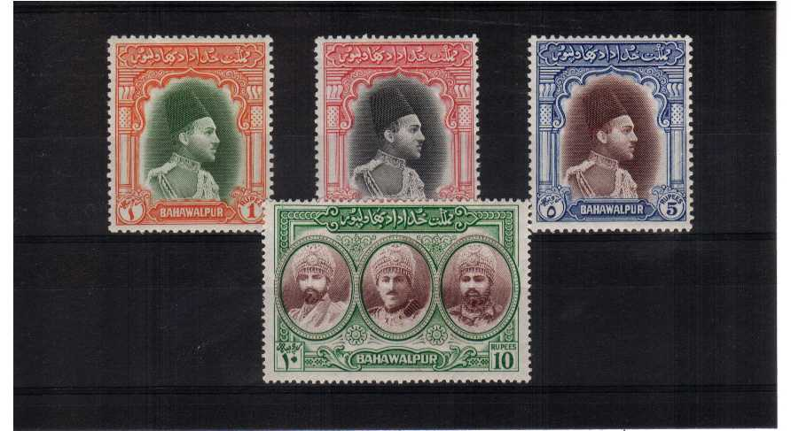 A fine very, very lightly mounted mint set of four.