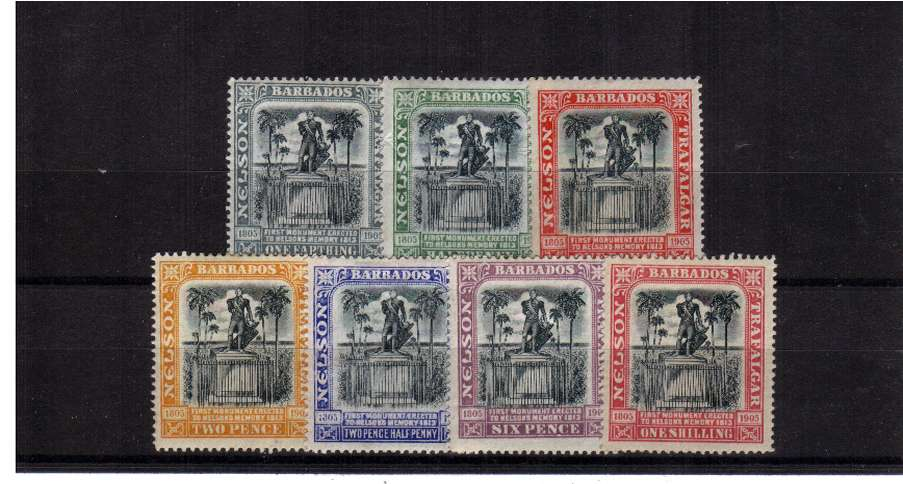The Nelson Centenary set of seven lightly mounted mint, bright and fresh.<br><b>ZKS</b>