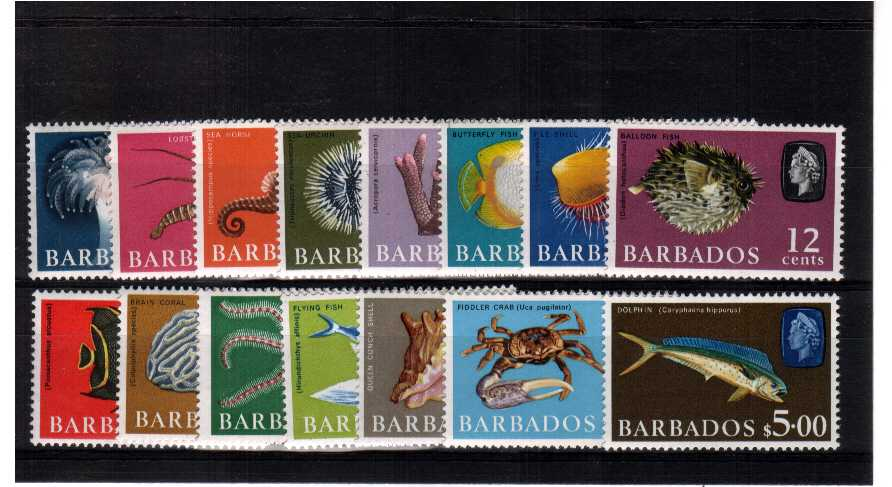 A superb unmounted mint set of fifteen showing the watermark sideways.<br/><b>UBU</b>