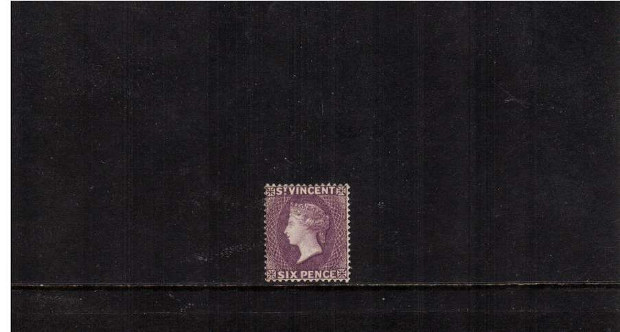 6d Violet - A superb fresh very lightly mounted mint stamp. SG Cat �0